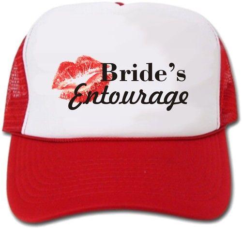 ccb625d230d Bride s Entourage Bridesmaid Bachelorette Party Hat Cap
