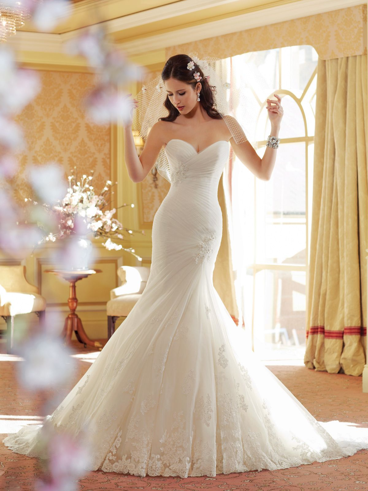 Sophia Tolli Y11406 €� Talisa Strapless Mermaid Wedding Dress With Dropped Waist Couture Inspired Elements Define A Sweetheart: Dropped Waist Mermaid Wedding Dresses At Reisefeber.org