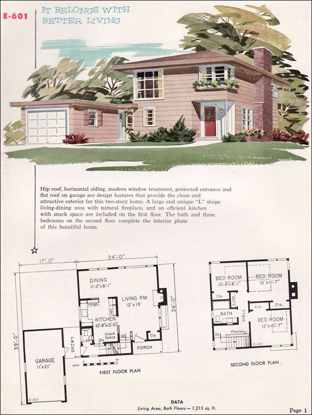 E 601 1955 National Plan Service Homes Of Individuality