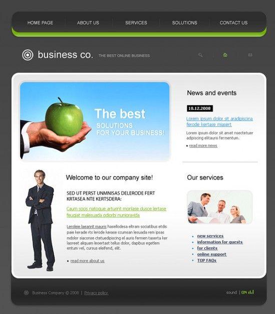 Exquisite European Style Website Template