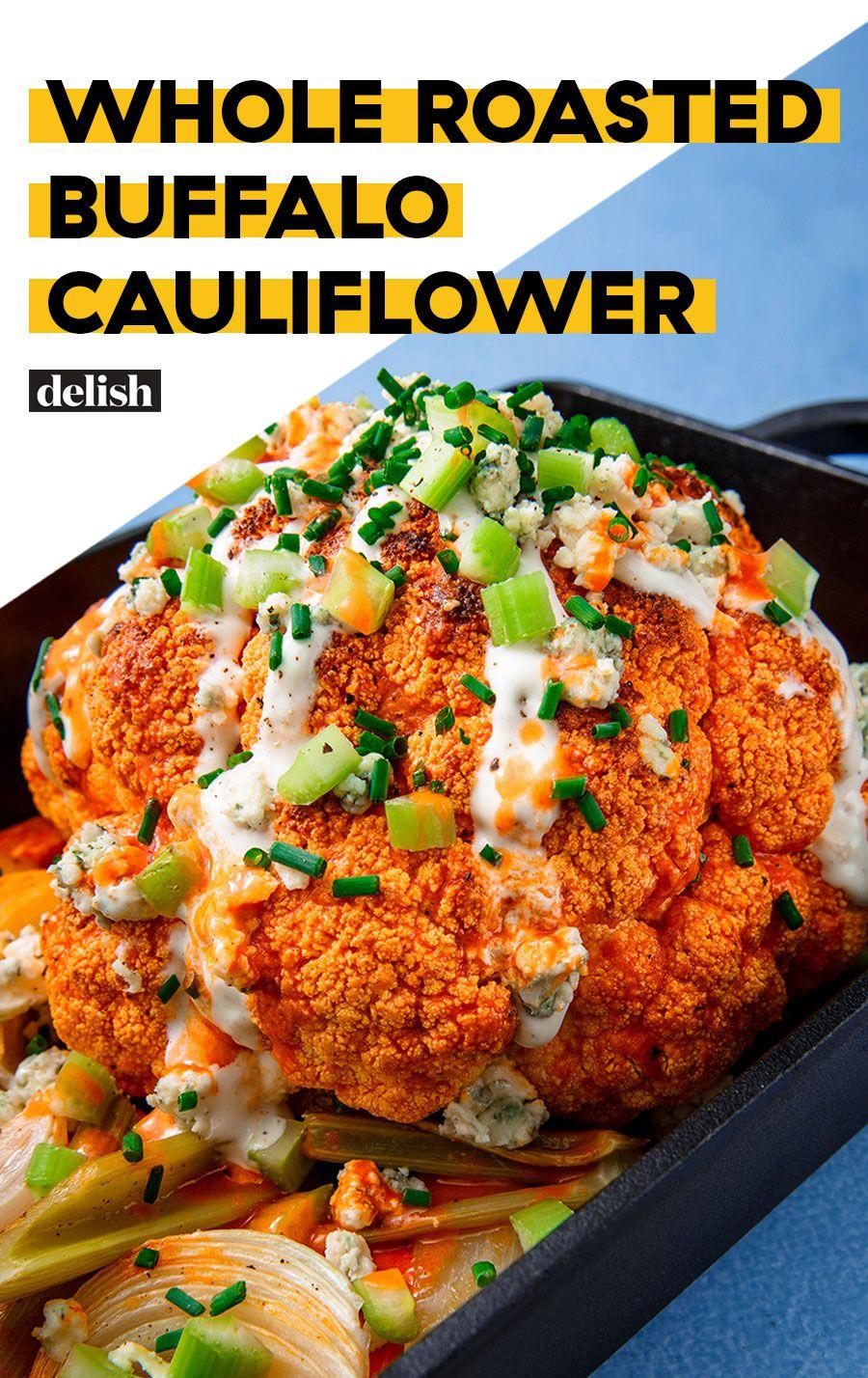 Whole Roasted Buffalo Cauliflower