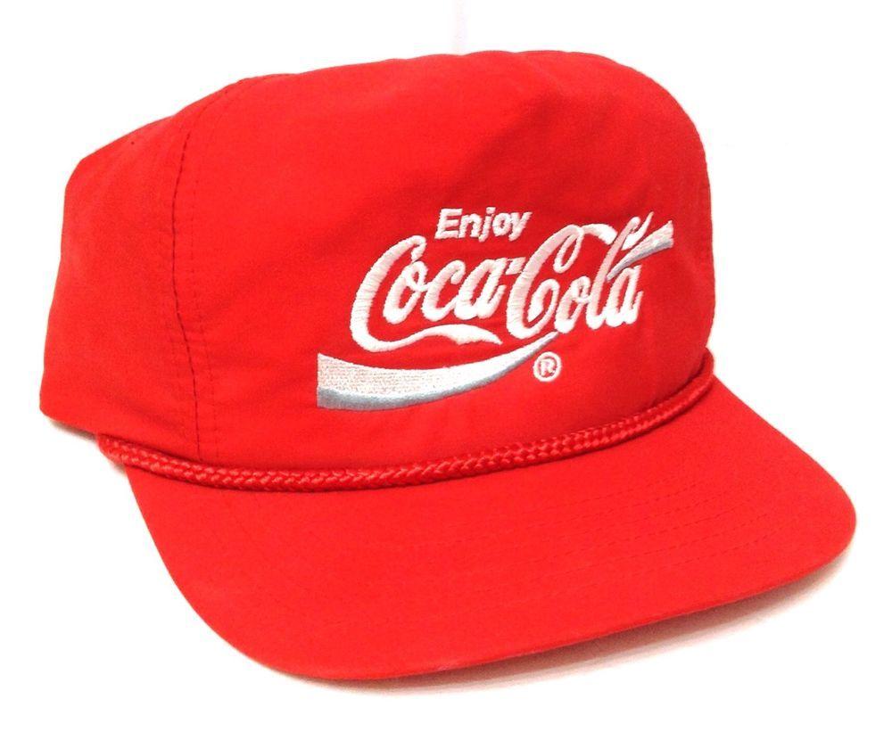 92141e3fca8 vtg 80s 90s rare COCA-COLA HAT Red White Snapback Men Women Teen OSFM Coke  Retro  DesignerAwardHeadwear  BaseballCap