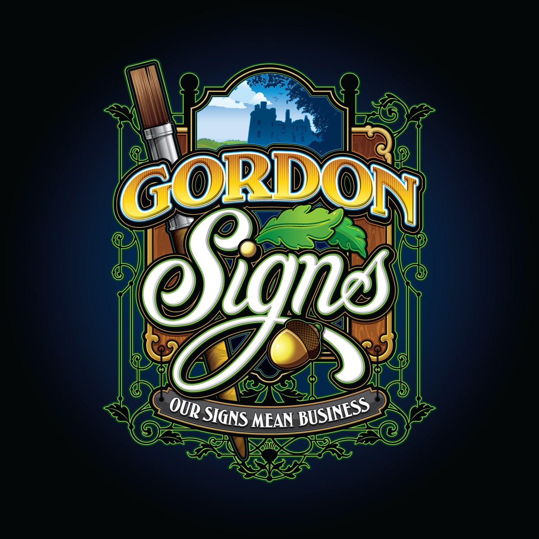 Our first pin Gordon Signs logo. Game logo, Logos