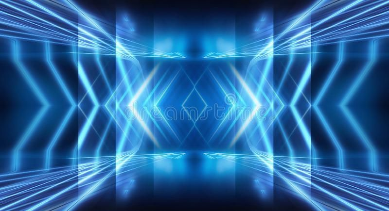 Abstract Dark Blue Background Empty Show Scene Background Stock Illustration abstract