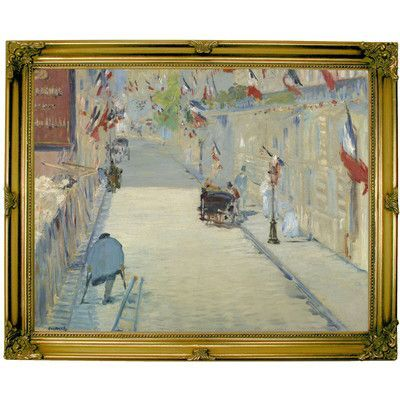 Historic Art Gallery \'The Rue Mosnier with Flags 1878\' by Edouard ...