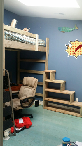 Solid Wood Custom Made Stairs For Bunk Or Loft Bed 300 Lbs