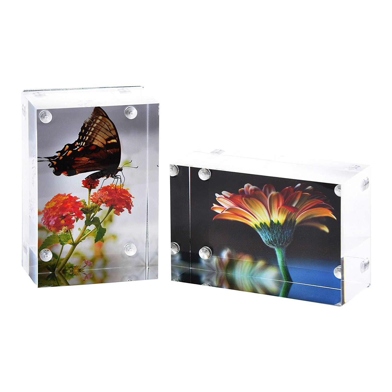 2 Pk Wallet Sized Magnetic Photo Frame Elegantly Display Photos In Home