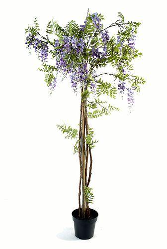 arbre plante glycine violet en pot tronc en bois fleurs artificielles luxe 200cm inspiration. Black Bedroom Furniture Sets. Home Design Ideas