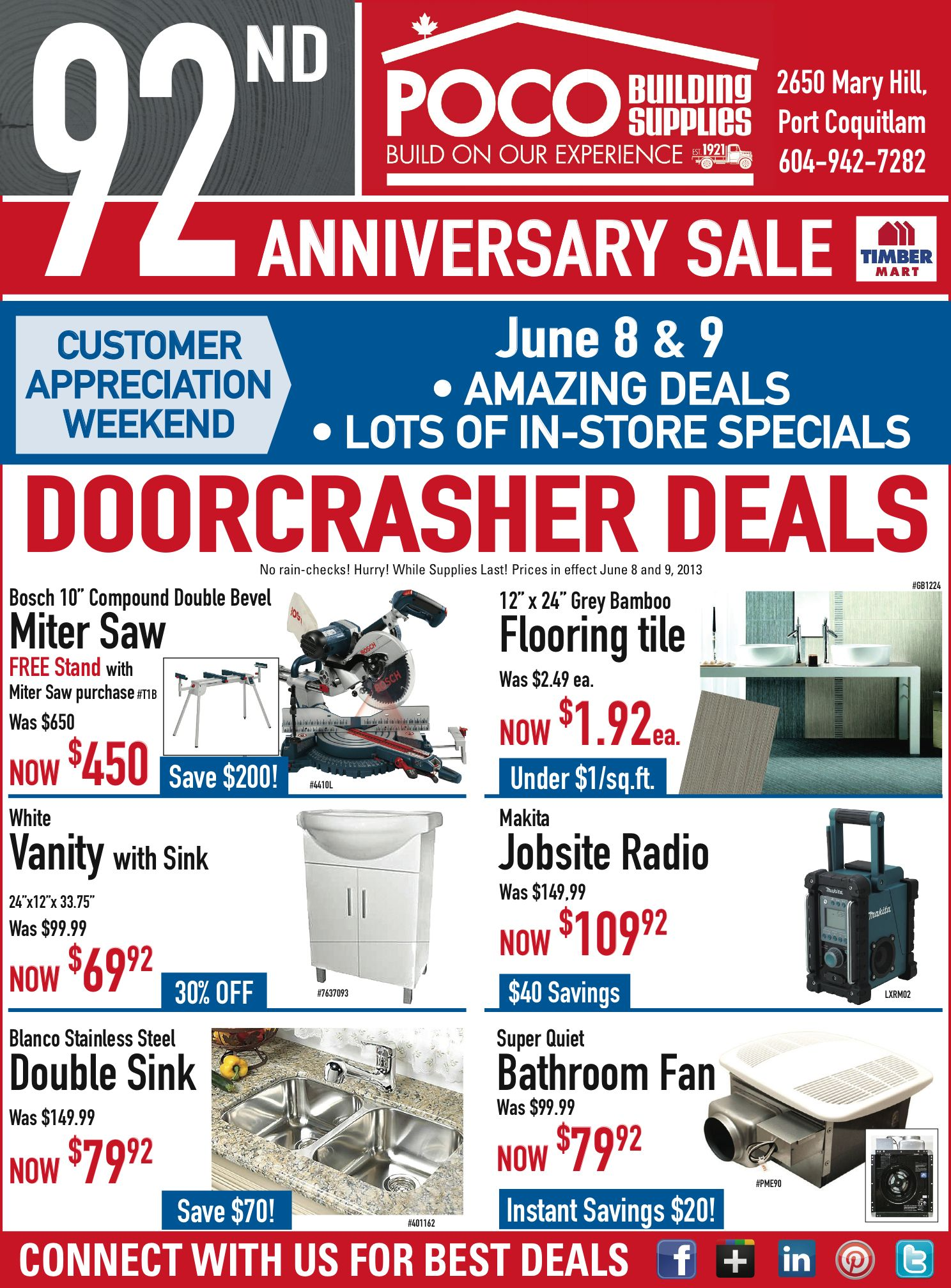 Nd anniversary sale flyer page promotions pinterest
