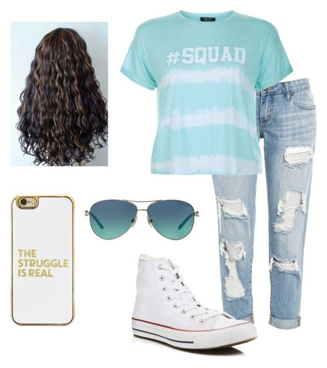"""""""squad"""" by clairelorraine on Polyvore featuring New Look, Converse, Tiffany & Co. and BaubleBar"""