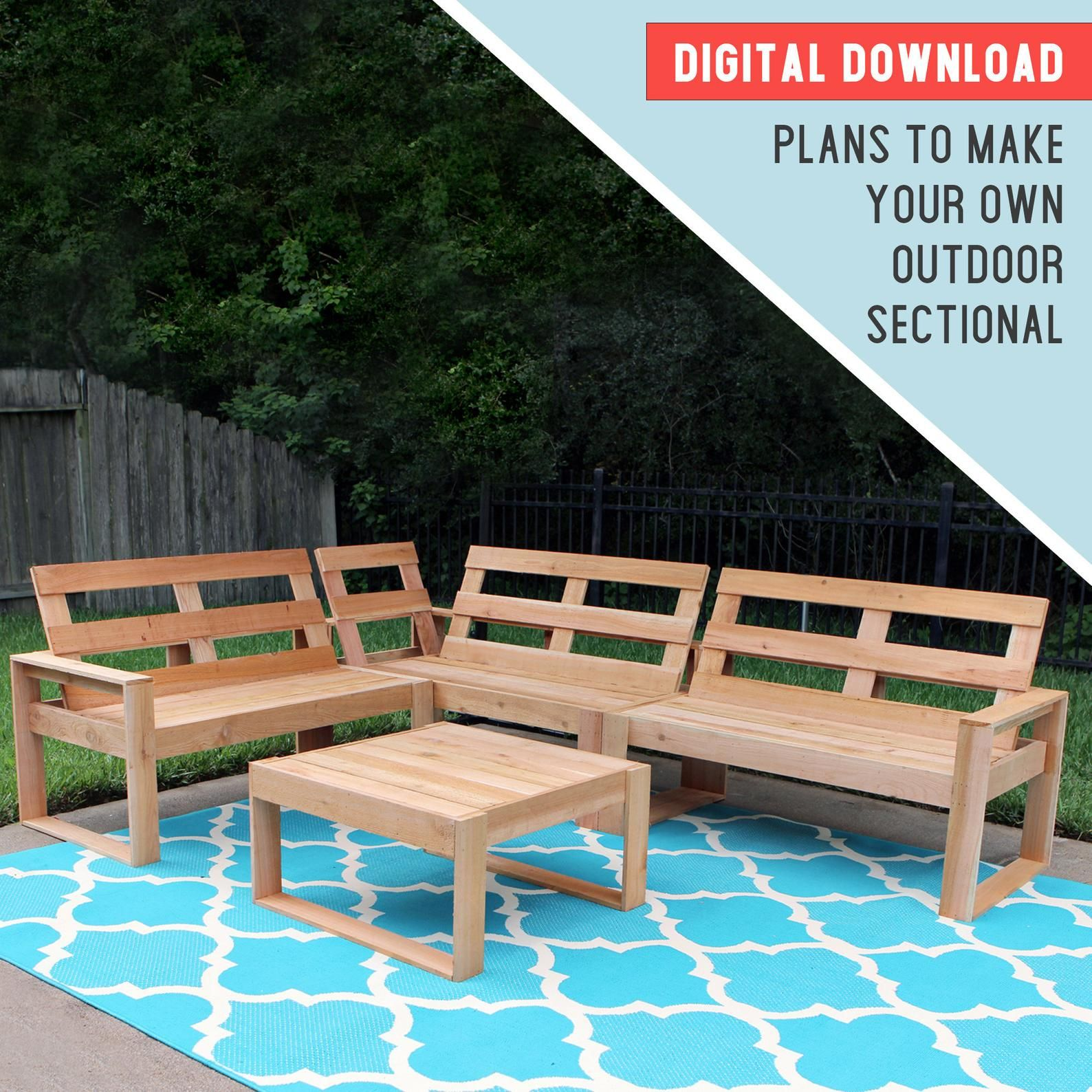 PLANS Outdoor Sectional Woodworking Plans Plans to build