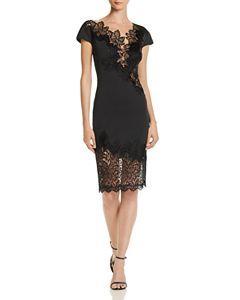 22ca197487e Scuba-Crepe Illusion Dress in 2019