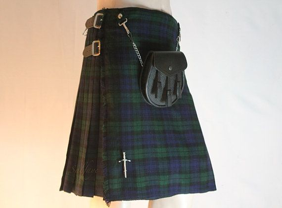 Scottish Outfit BLACK WATCH KiLT in All size's by Cooldesires4u