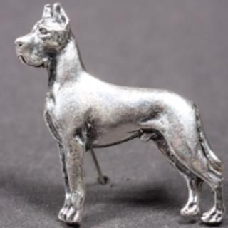Great Dane Silver Brooch Dog Cropped With Images Great Dane