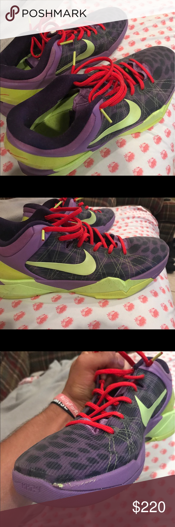 Nike Kobe 7 Christmas No box..8.5/10. Really comfy. Can ship to ...