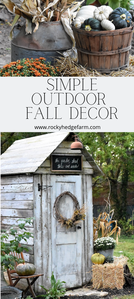 Simple Fall Outdoor Decorating Ideas #falldecorideasfortheporchoutdoorspaces