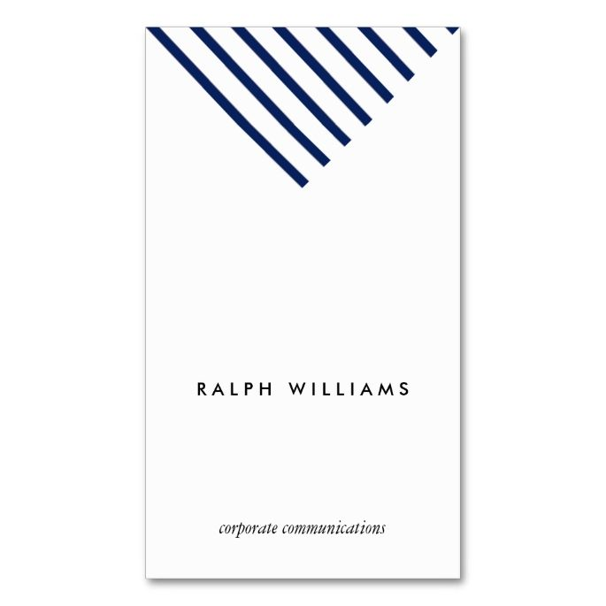 Simple Minimalist Professional Blue Nautical Lines Business Card Zazzle Com Business Card Graphic Business Card Design Business Card Maker