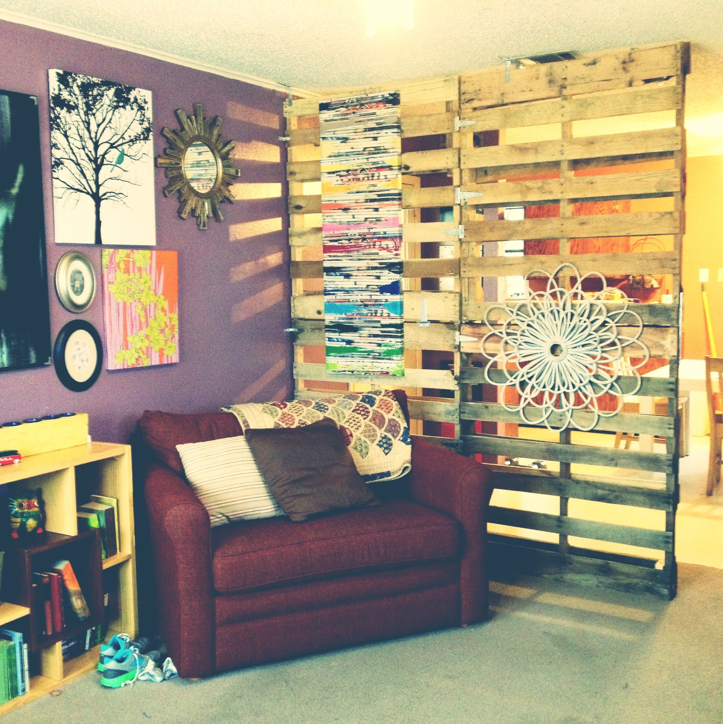 Pallet room divider lots cheaper than any i found in stores