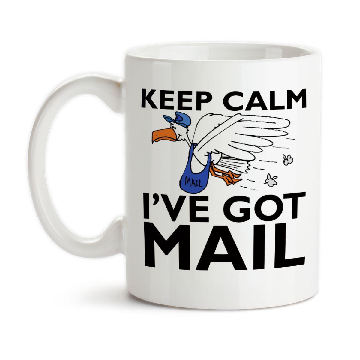 Coffee mug keep calm ive got mail mail carrier postal
