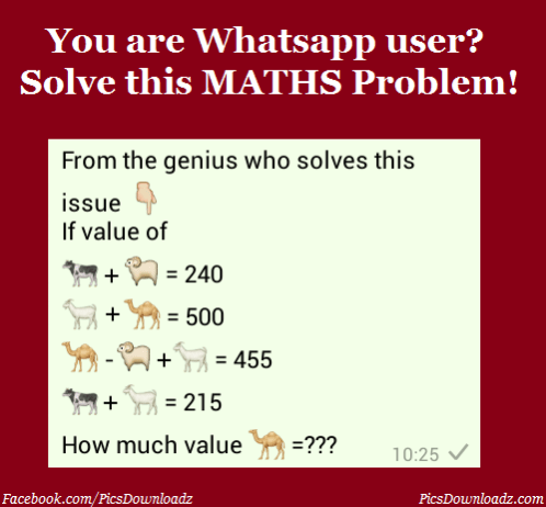 Are You A Whatsapp User Solve This Whatsapp Math Puzzle Problem Maths Puzzles Math Puzzles Brain Teasers Solving