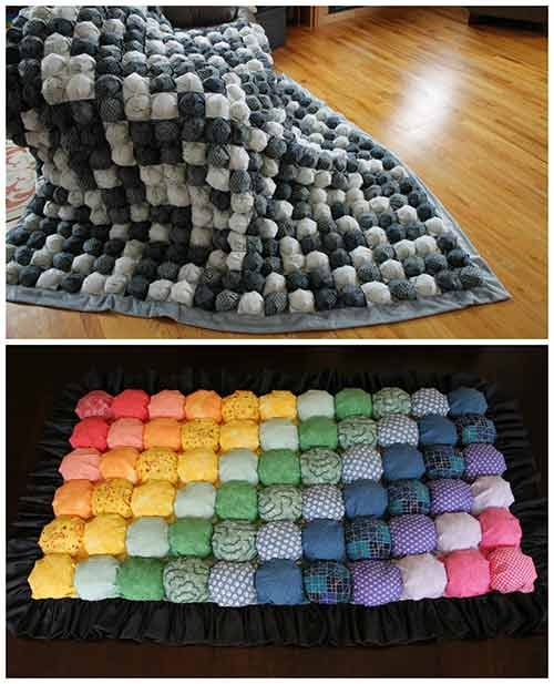 How To Easily Make A Bubble Quilt Craft Ideas Pinterest Quilts Classy How To Make A Puff Quilt With Sewing Machine