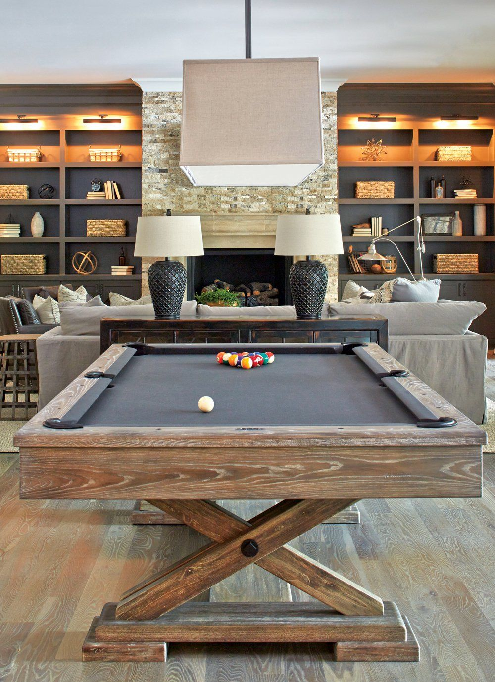 Room Envy This Basement Is Far From An Afterthought Atlanta Magazine Pool Table Room Pool Rooms Game Room Basement