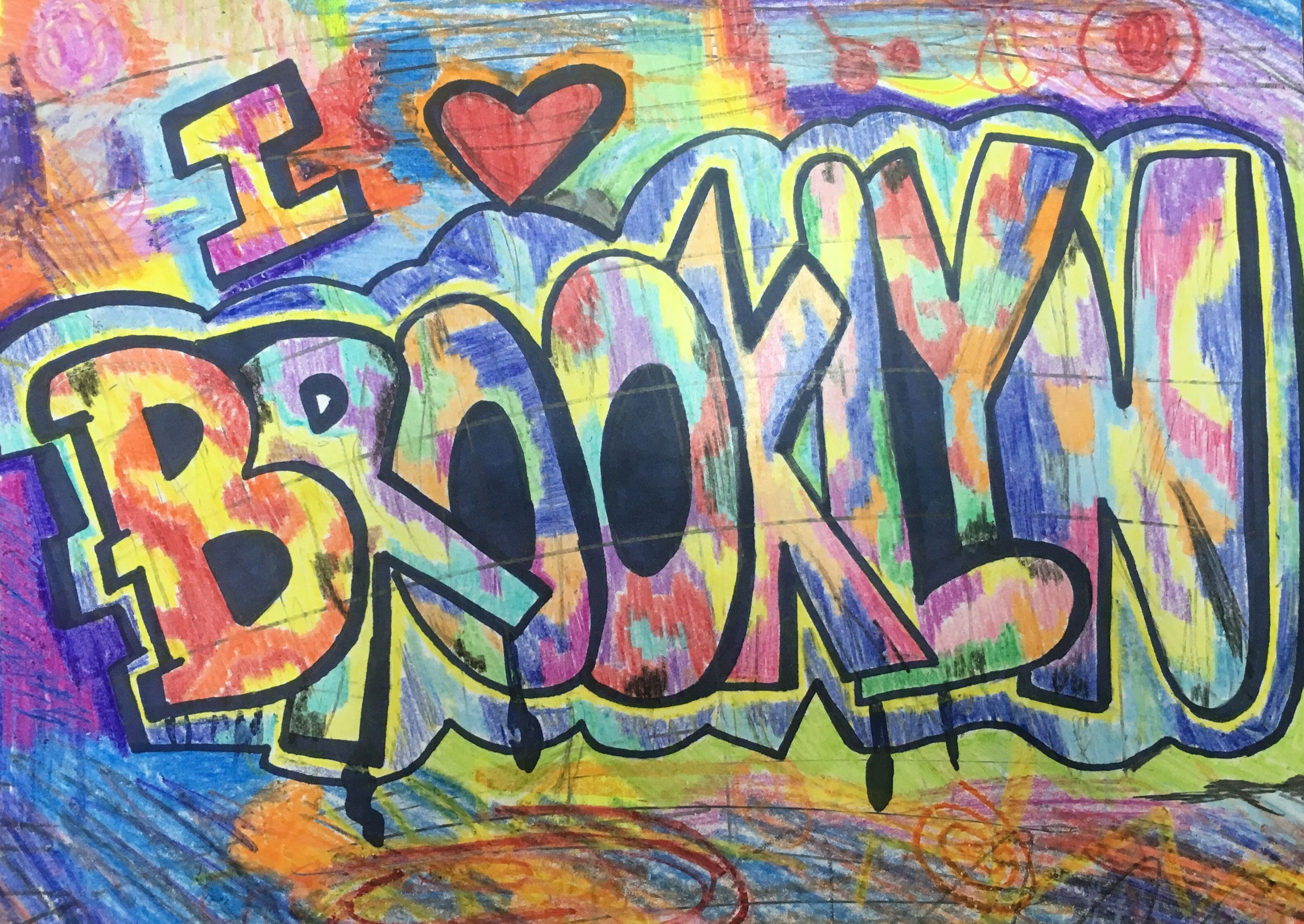 Graffiti Name Art BROOKLYN by one of my Students from