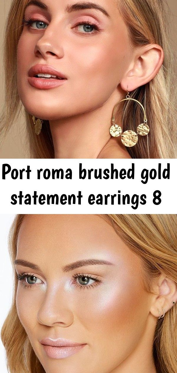 Port roma brushed gold statement earrings 8 Lulus  Port Roma Brushed Gold Statement Earrings Too Faced Pretty Rich Diamond Light MultiUse Diamond Highlighter  Reviews  Ma...