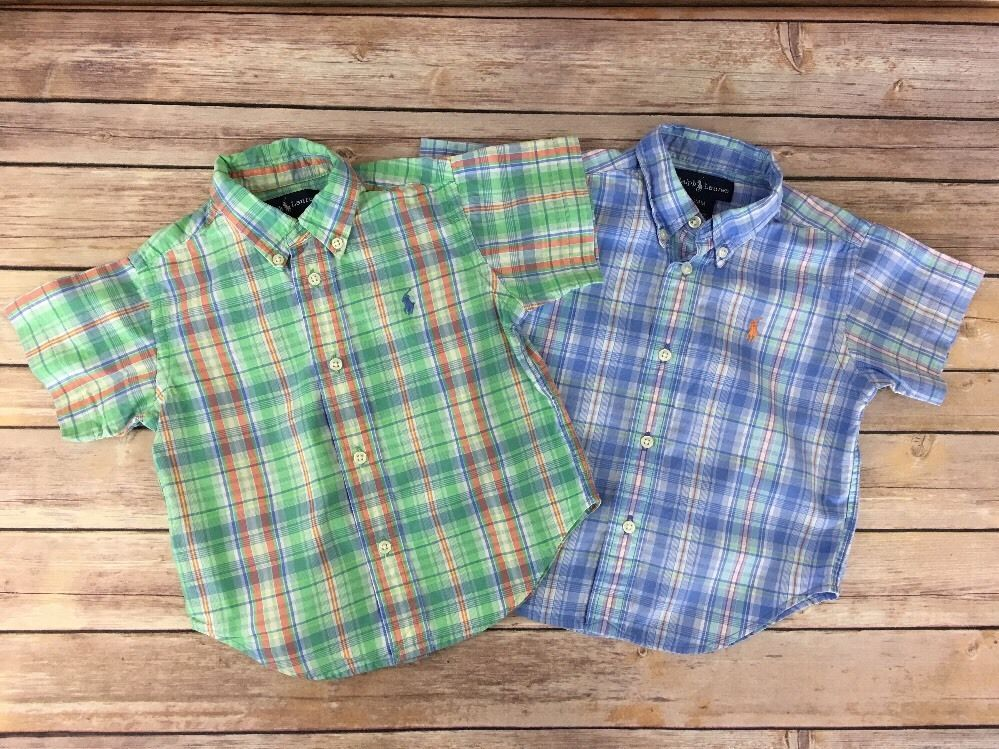 Polo Ralph Lauren Little Boys Button Front Shirt Army Camo 5 5T NWT