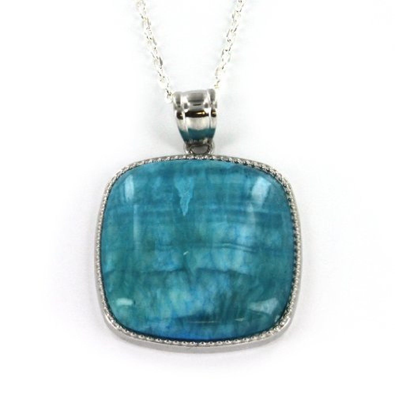 Beautiful blue stone pendant 36mm classic square shape inlay beautiful blue stone pendant 36mm classic square shape inlay aloadofball Image collections