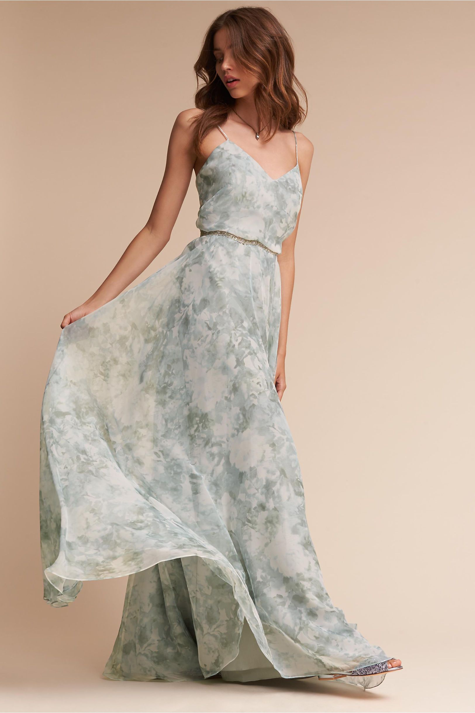 4179e19c3 BHLDN's Jenny Yoo Inesse Dress in Mist Multi | Products | Bhldn ...