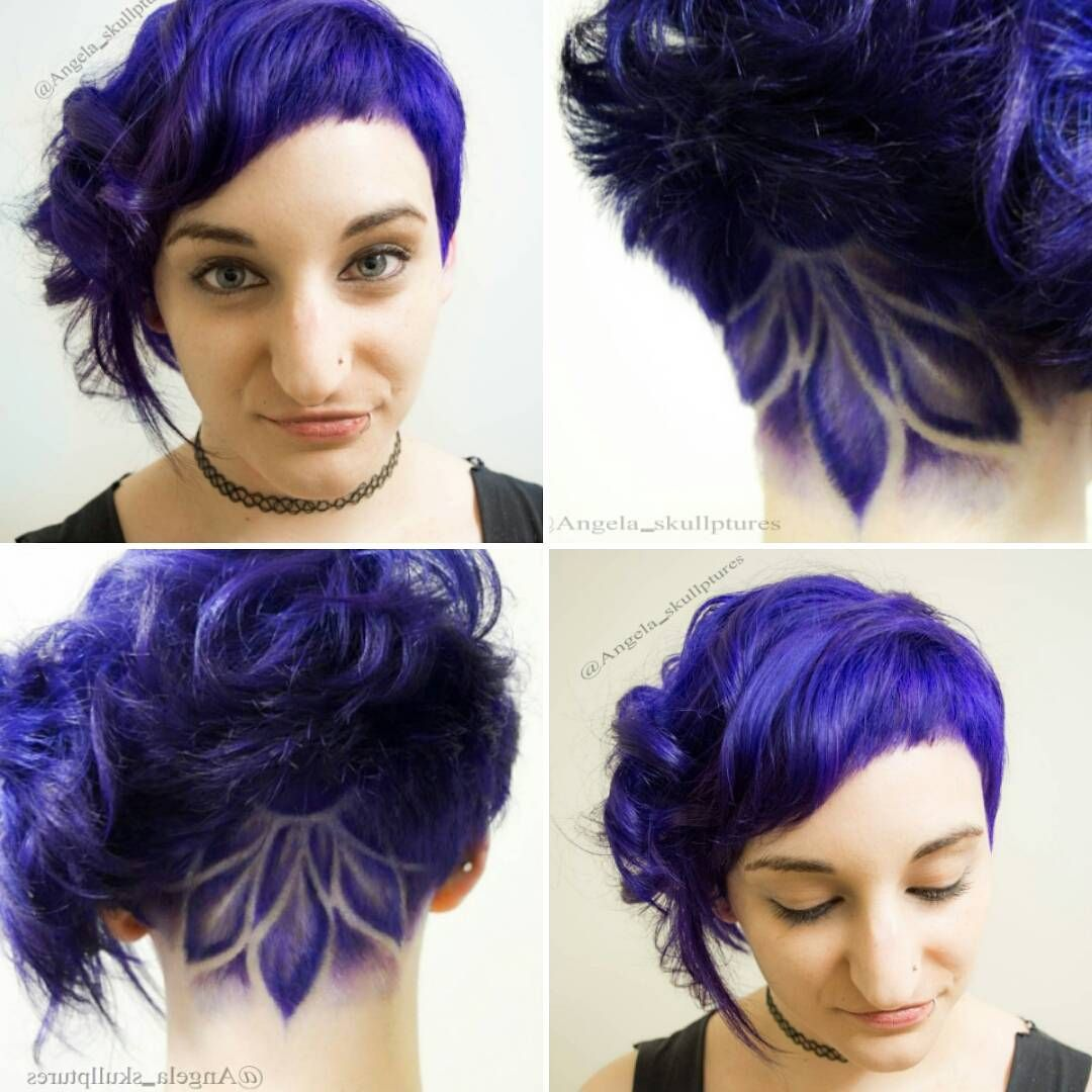 purple asymmetric cut with abstract