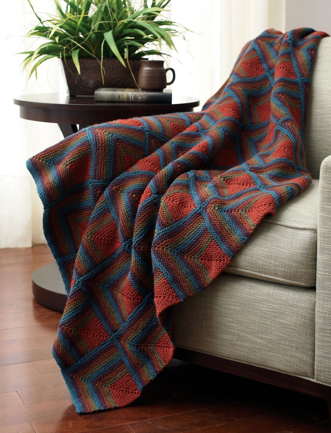 Yarnspirations.com - Bernat Mitered Squares - Patterns ...