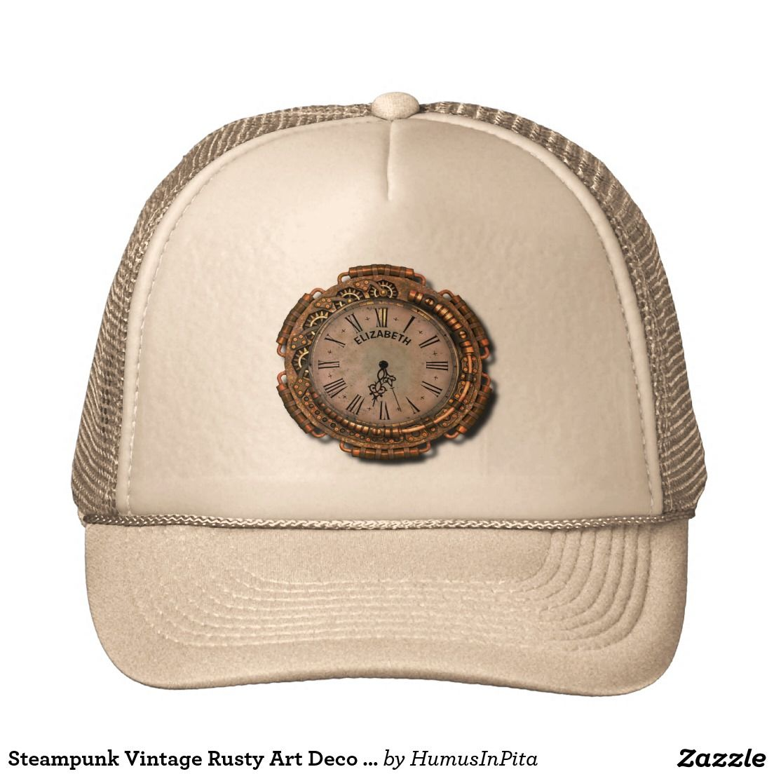 dc758740a6c Steampunk Vintage Rusty Art Deco Clock Trucker Hat Best Gifts For Men