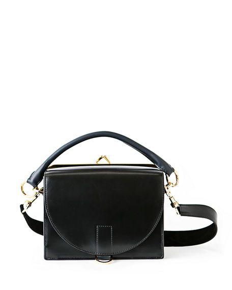 45320c8cac SACAI Large Leather Flap-Top Satchel Bag