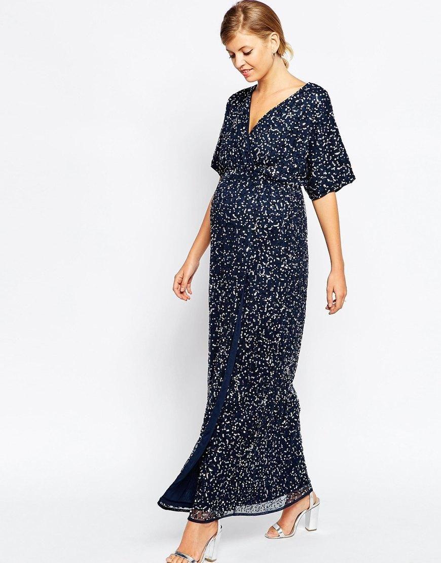 b2fd8d6c2baef ASOS Maternity   ASOS Maternity Kimono Maxi Dress In Sequin at ASOS ...
