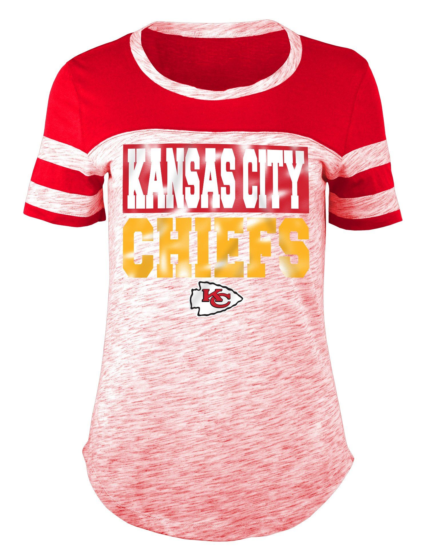 Kansas City Chiefs Ladies Short Sleeve Burnout T-Shirt by New Era Equipo San  Francisco e900ad65c