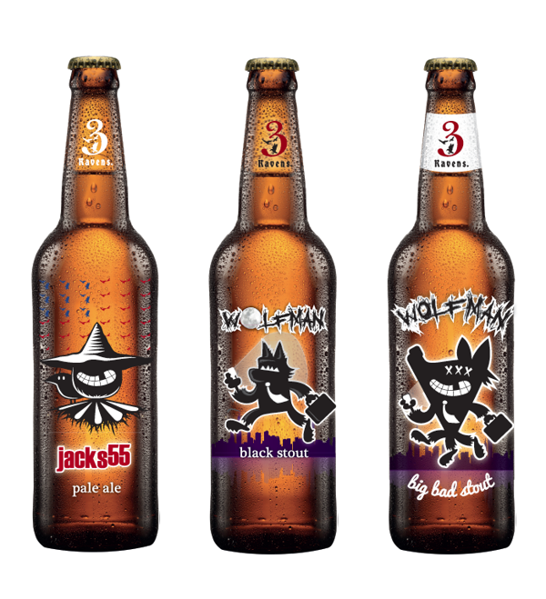 3 Ravens By Moko Creative Via Behance Packaging Design Packaging Bottle Design