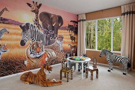 a wall mural to inspire your young lion king fan stuffed animals