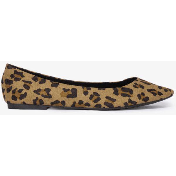 FOREVER 21 Leopard Ballet Flats ($17) found on Polyvore