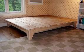 I Love This Idea Pretty Wood Frame Wood Platform Bed Diy