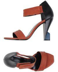 Balenciaga Sandals brown - Lyst