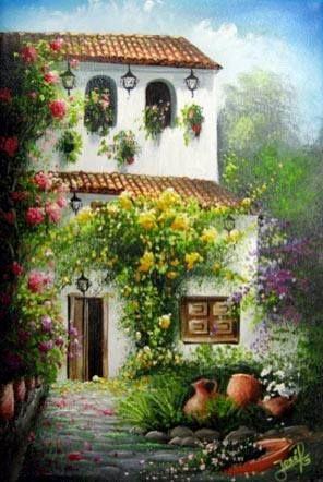 Jose Raul Rodriguez Galan Colombia Scenery Paintings Art Painting Landscape Art