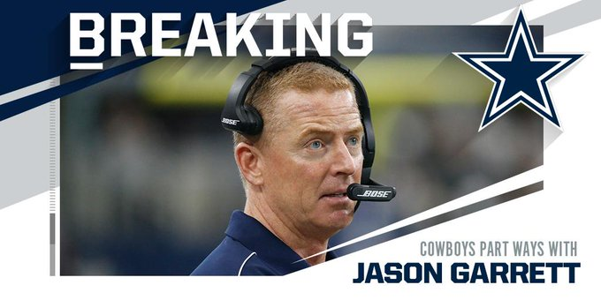 "(1) NFL on Twitter ""BREAKING Cowboys part ways with head"