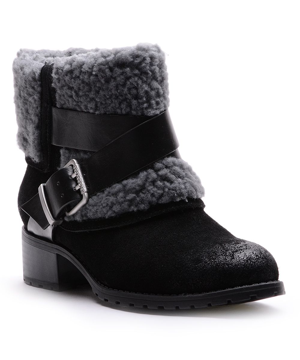 f78c01504f05 Black Suede Jen Fold-Over Boot