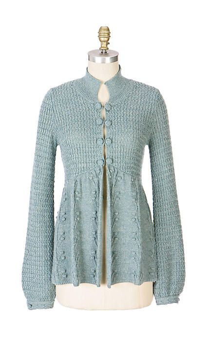 Pebbled Sweater Jacket - front--sleeping on snow--anthropologie.com