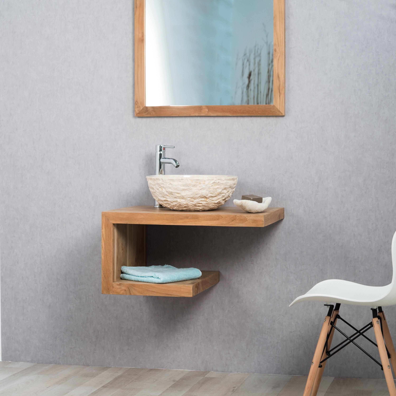 tràs joli meuble en teck massif ligne pure et contemporaine