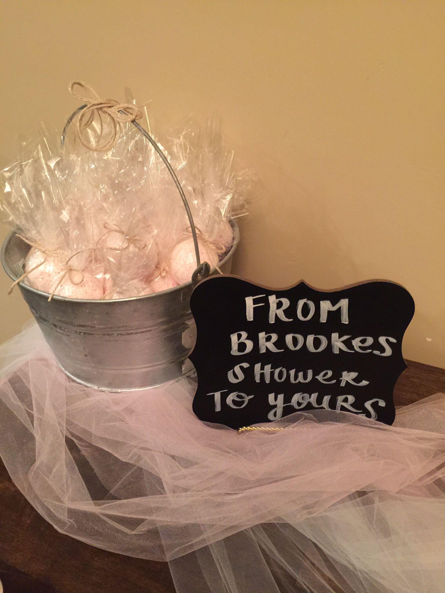 bridal shower party favor bath bombs