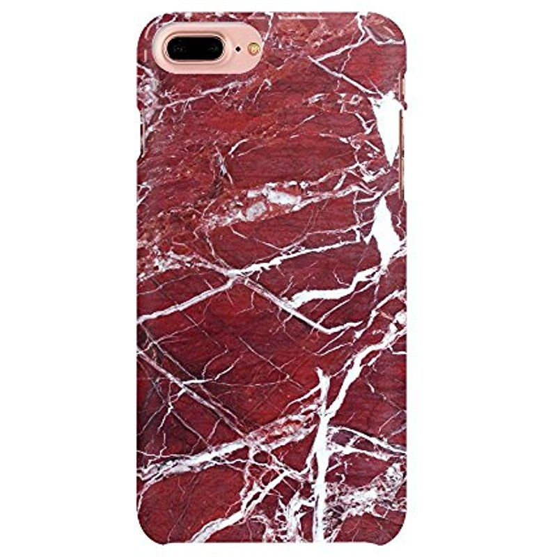 India Red Marble Stone Texture Pattern Iphone 7 Plus Case Custom