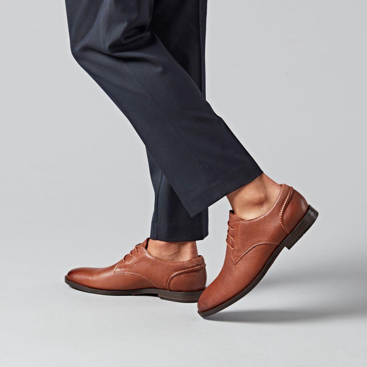 Clarks Glide Lace - Mens Shoes Tan